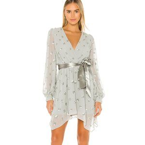 Lovers + Friends Olivia Embellished Dress in Gray